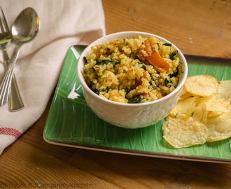 Spinach Rice - Using Leftover Rice - Meal for one #mealforone