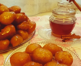 Loukoumades - Greek honey & cinnamon puffs