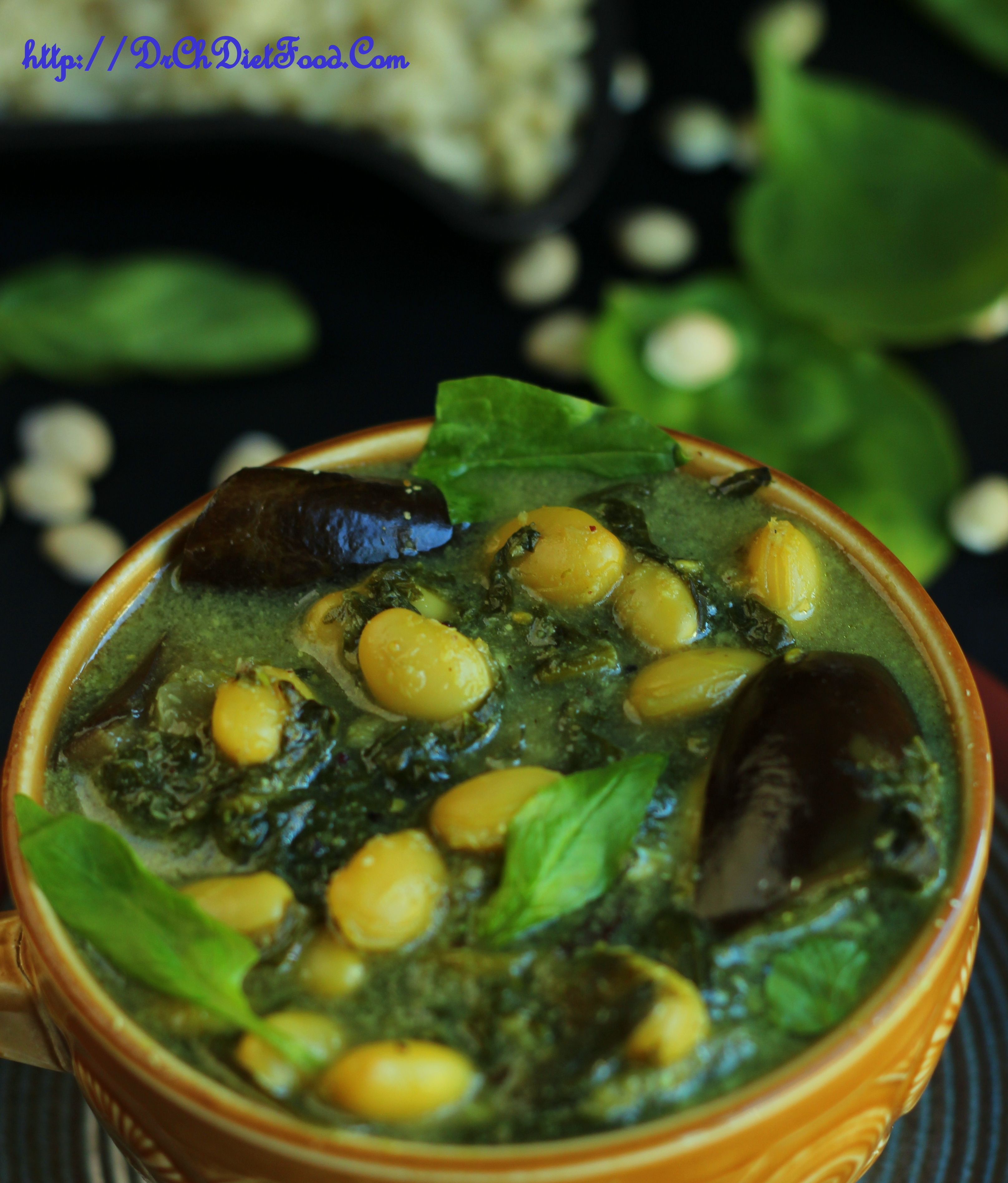 Spinach beans curry/Stew
