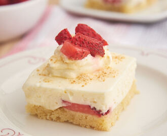 Strawberry Shortcake Cheesecake Bars