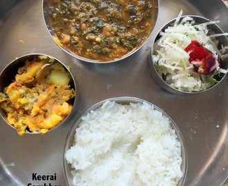 Mini Thali Series 3 : Keerai Sambhar & two more | Easy vegan & GF Mini Meals | Diabetic Eating
