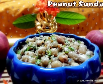 Peanut Sundal - a delicious Snack! A great Prasad Option for Ganesh Chaturthi | Navratri!