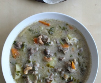 Pressure cooker mutton stew / Mutton in coconut milk gravy