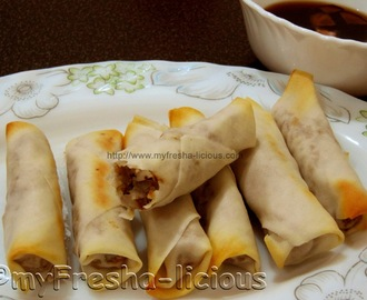 The Healthiest Tuna Lumpia Ever