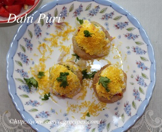 Dahi Puri Recipe -- How to make Dahi Puri -- Dahi Puri at Home