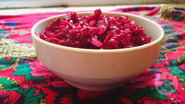 Polish classic beetroot salad