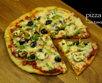 pizza recipe | veg pizza recipe | tawa pizza recipe | homemade pizza