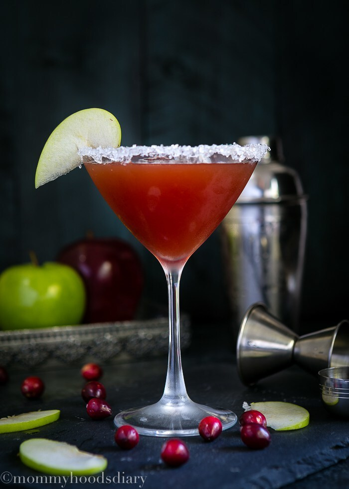 Apple Cranberry Caramel Cocktail