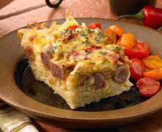 Breakfast, lunch or dinner casserole