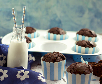 Chocolate donut muffins