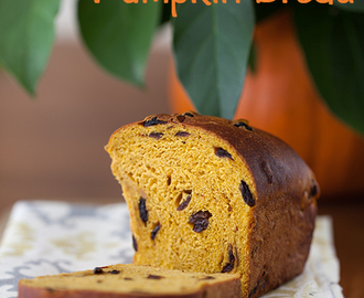 Pumpkin Bread with Raisins, Dried Cherries & Pumpkin Seeds