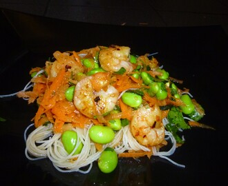 Fresh and Zingy Prawn Noodle Salad with a Soy Sauce and Lime Dressing Recipe
