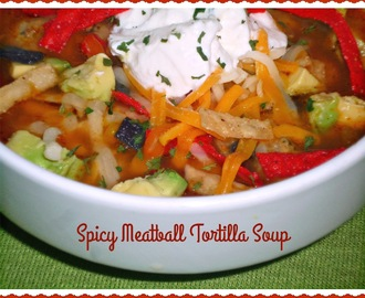 Warming Trends for #SundaySupper...Featuring Spicy Meatball Tortilla Soup