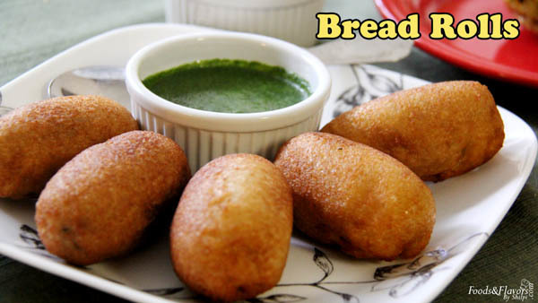 Bread Rolls Recipe – How to make Potato/ Aloo Bread Rolls – Indian Snacks Recipes