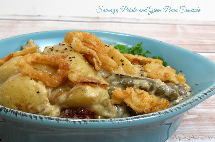Sausage Potato and Green Bean Casserole #ThisIsMyTwist