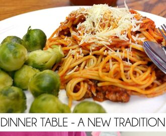 Supper at the Dinner Table – a New Tradition