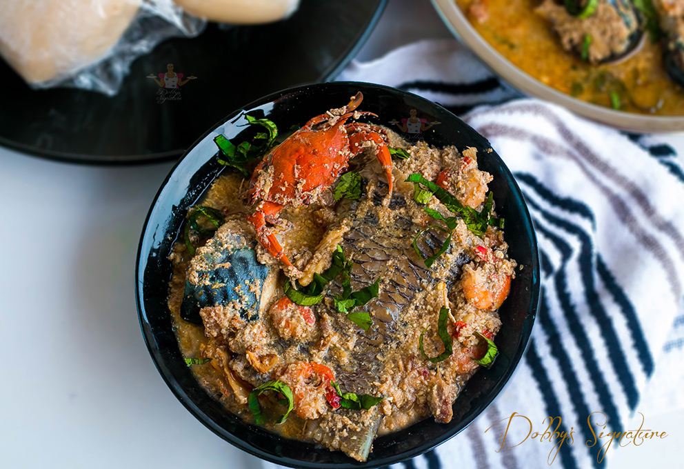Egusi Pepper Soup Recipe - Seafood Version
