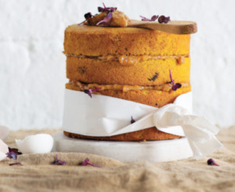 SWEET POTATO AND COCONUT CAKE WITH DATE 'BUTTER'