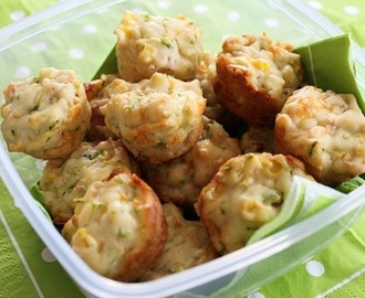 Lunchbox Bakes - Cheesy Ham and Corn Mini Muffins