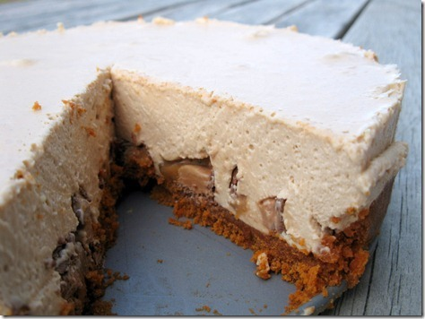Baileys and Mars Bar Cheesecake
