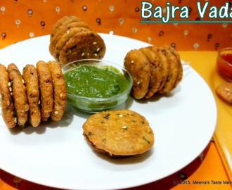 Bajra Vada - A Gluten Free Tea Time Snack!
