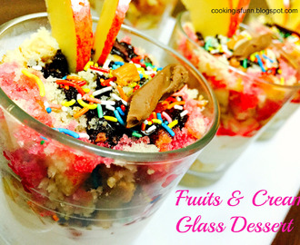 Fruits and Cream Glass Dessert