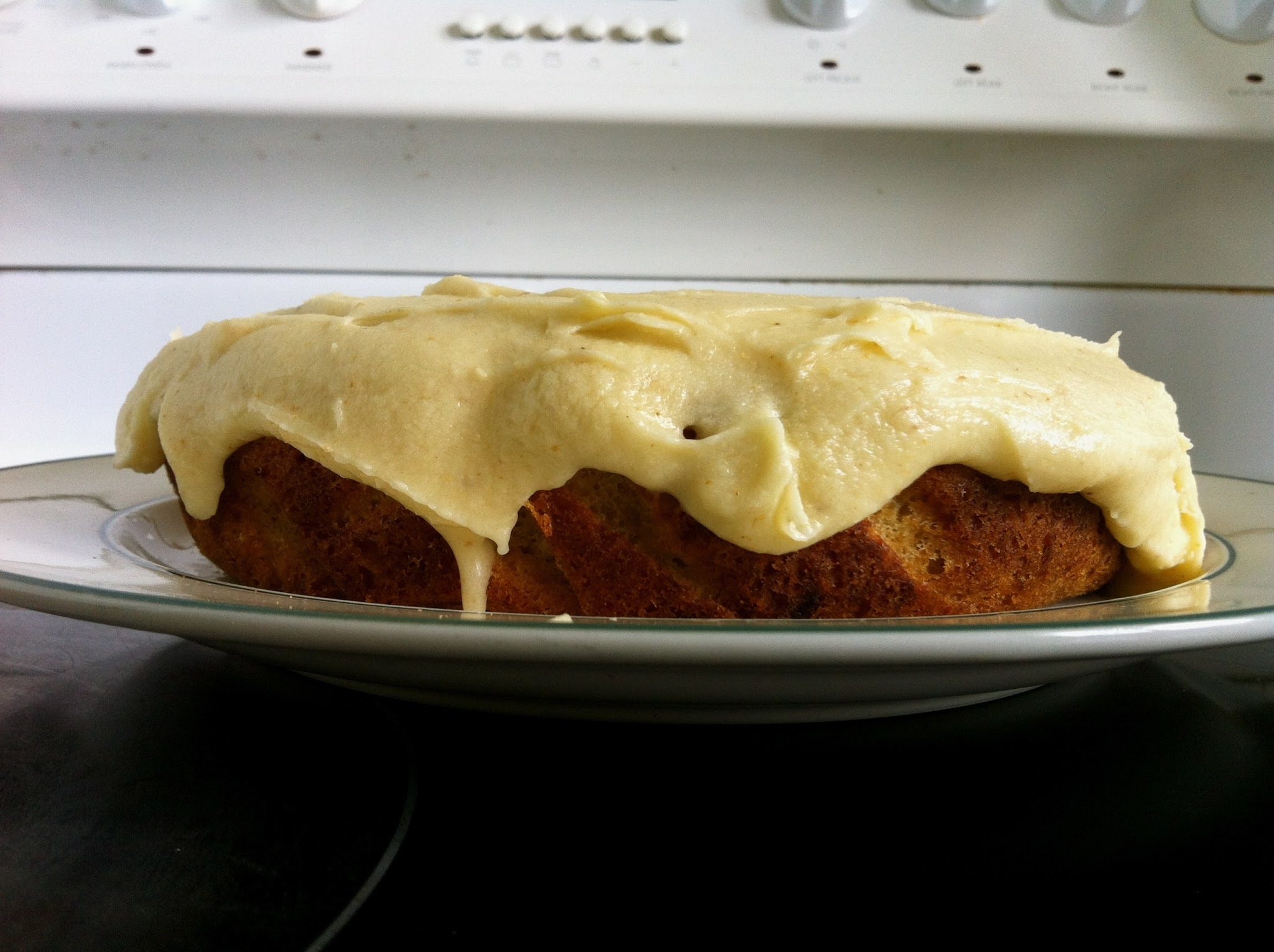 gluten free banana ginger cake with buttercream frosting