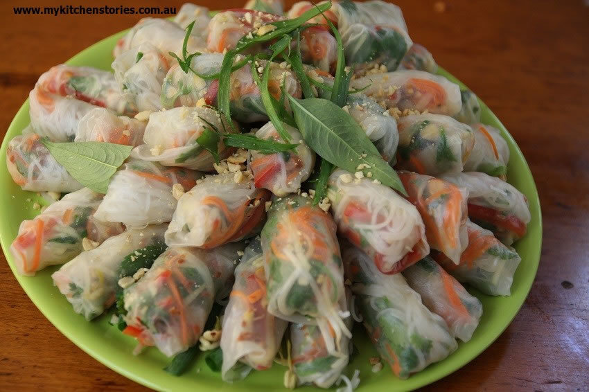 How to make Vietnamese Rice Paper Rolls