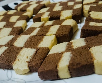 Checkerboard Cookies (Eggless)