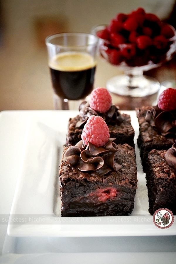 Raspberry Chocolate Chunk Brownies Infused With Nespresso Cioccorosso
