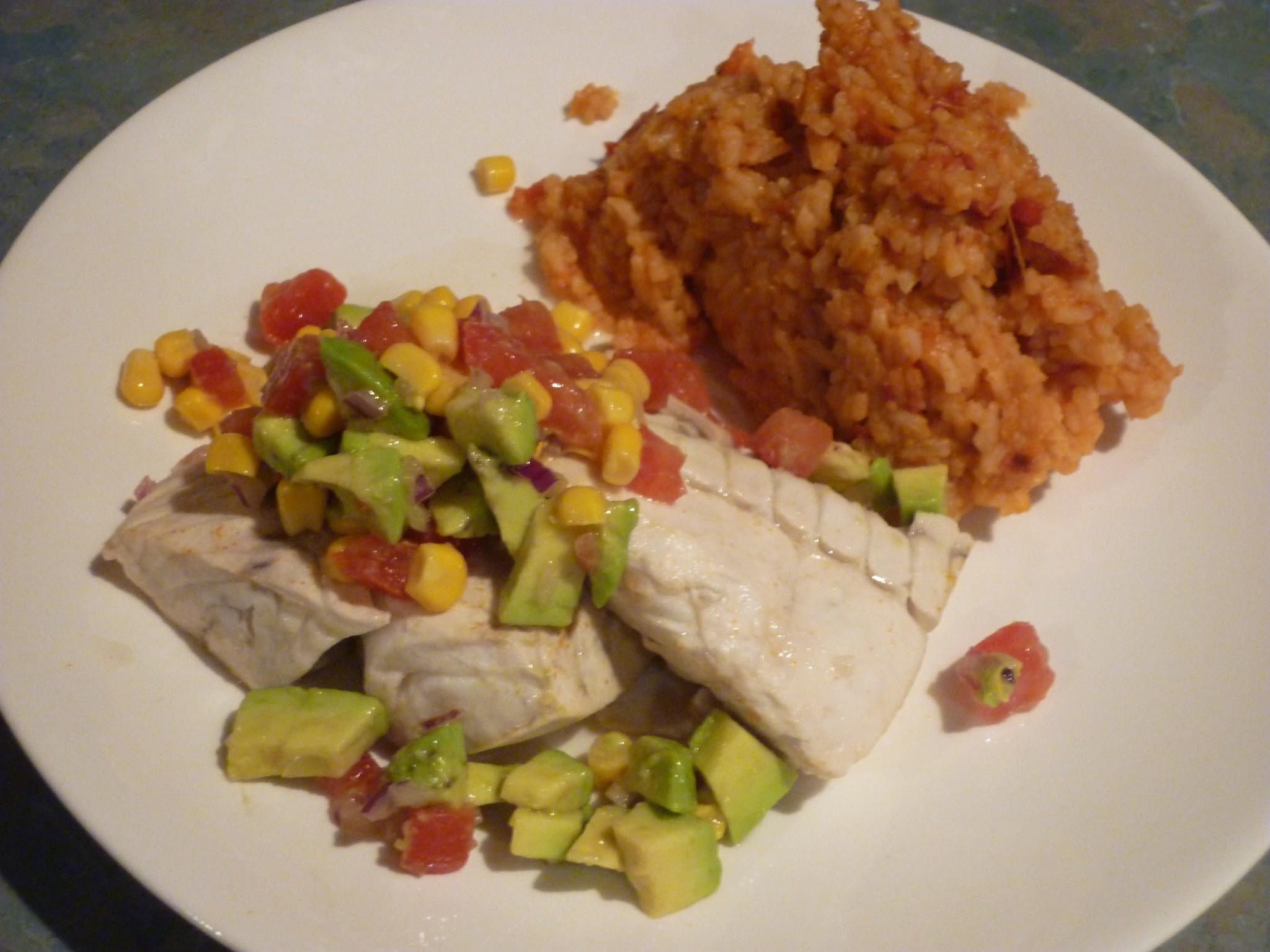Mexican Night: Lime poached fish