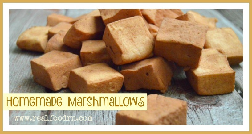 Chocolate Dusted Homemade Marshmallow Recipe