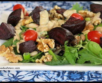{Recipe} Roast Beetroot and Walnut Salad with Maple Tahini Dressing