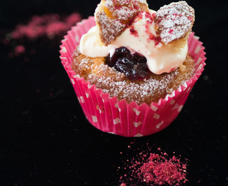 Butterfly Cakes with home-made Cherry Jam