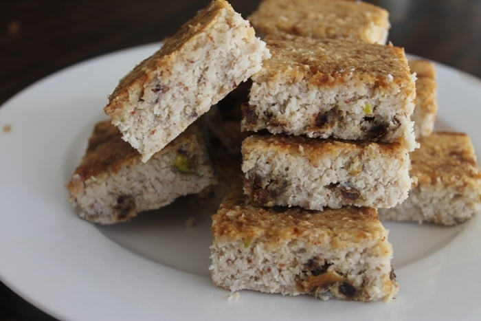 Coconut Bars with Date & Pistachios!  Gluten, Grain & Dairy Free! Big Batch!