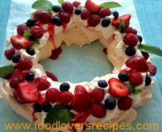 FATIMA'S PAVLOVA WITH SUMMER BERRIES
