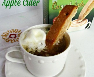 Caramel Apple Cider pairs perfect with Nonni's Biscotti + Nonni's Holiday Giveaway