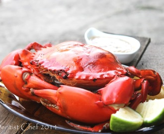 Butter Garlic Baked Crab with Lime, Bacon, and Herbs, Served with Crab Gravy