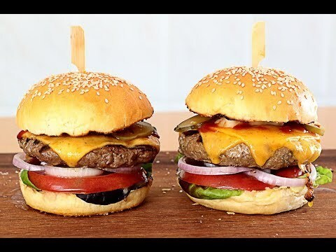 Pan de hamburguesa + Receta de hamburguesa👌 🇬🇧Hamburger buns + Hamburger Recipe - YouTube