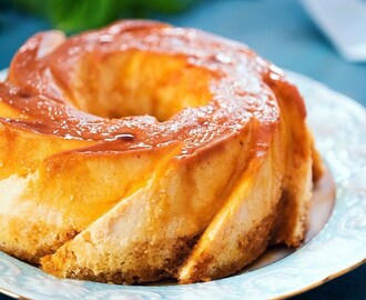 Flan Cake (Cream Cheese Flan with Vanilla Cake and Caramel Topping)