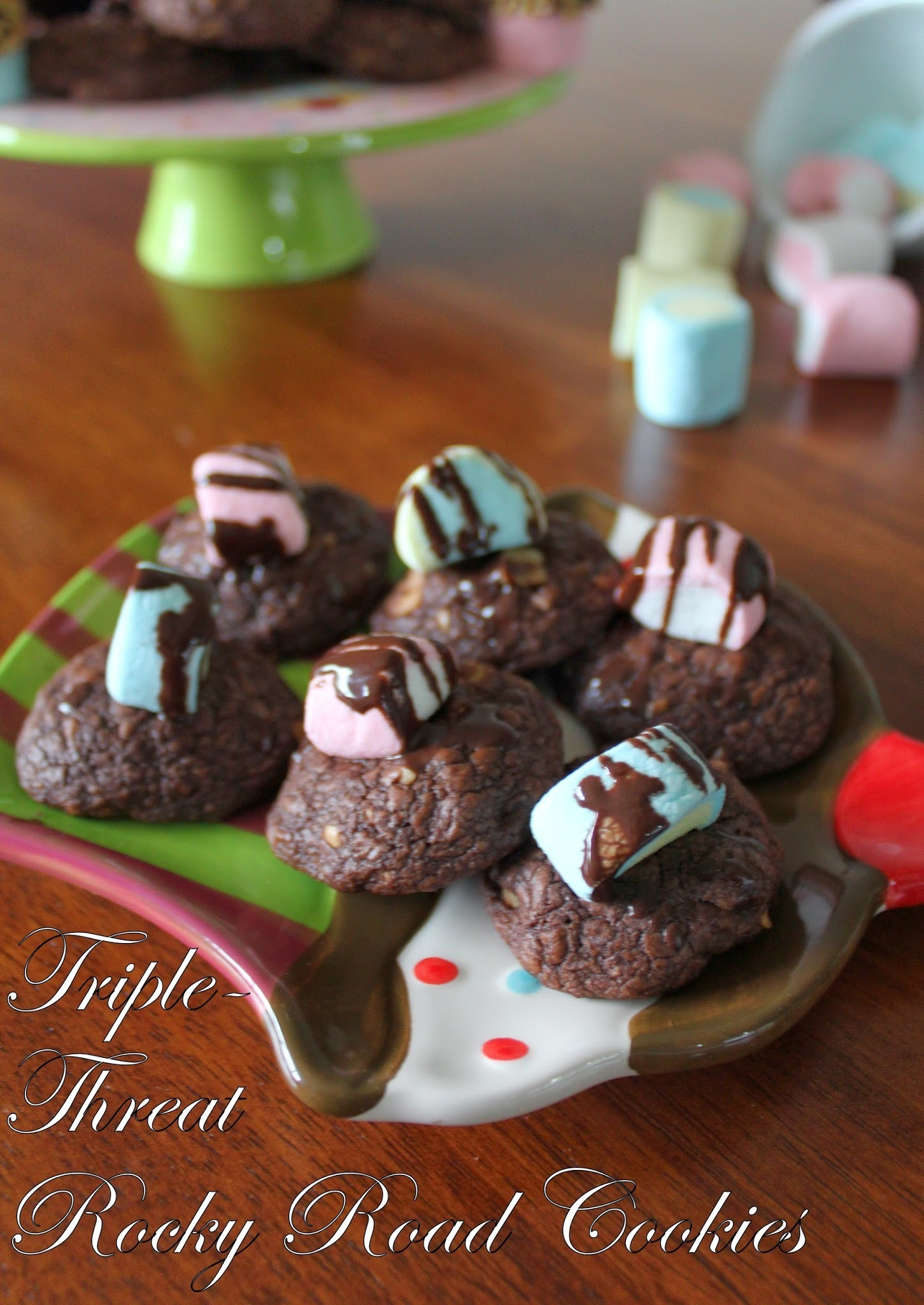Triple-Threat Rocky Road Cookies