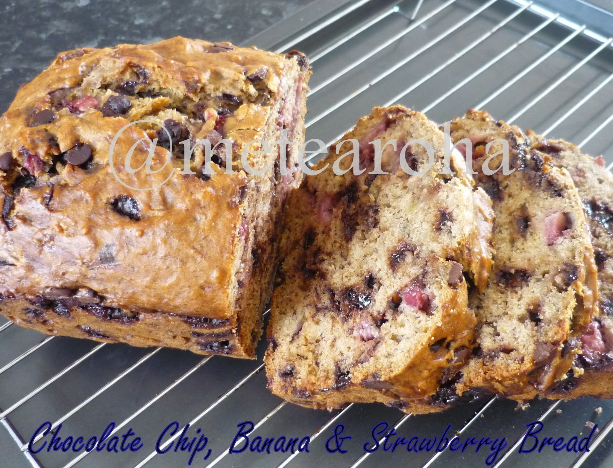 Chocolate Chip, Banana & Strawberry Bread