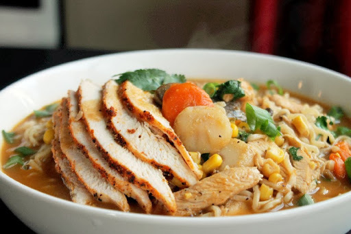Roasted Chicken Ramen Noodle Soup and a Sucre King Cake Giveaway!