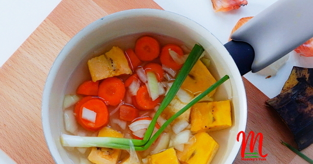 Delicious Baby Plantain and Carrot Meal