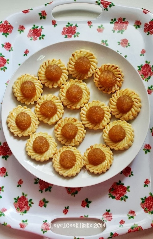 Bake Along #57 (CNY Cookies) Pineapple Tarts - Open Tart, Melt In The Mouth (Third Recipe)
