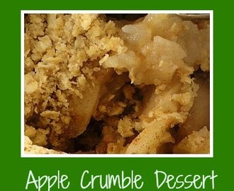 Apple Crumble Dessert - Back to Basics