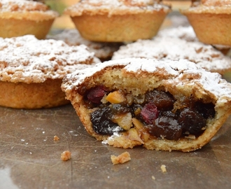 Luxury orange shortbread mince pies with a macaroon topping