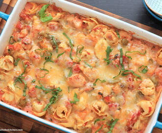 Chicken and Tortellini Skillet