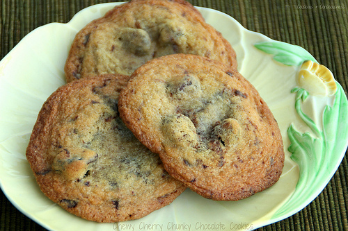 Chewy Cherry Chunky Chocolate Cookies