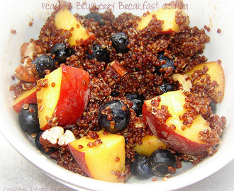 Peach & Blueberry Breakfast Quinoa